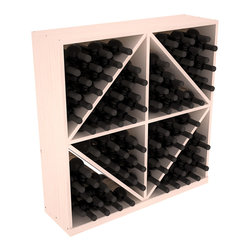 Wine Racks America - Solid Diamond Wine Storage Bin in Pine, White Wash - This solid wooden wine cube is a perfect alternative to column-style racking kits. Holding 8 cases of wine bottles, you can double your storage capacity with back-to-back units without requiring more access area. This rack is built to last. That is guaranteed.