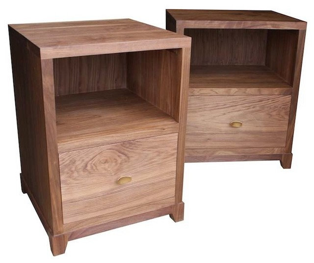 Contemporary Nightstands And Bedside Tables by Mortise & Tenon Custom Furniture Store