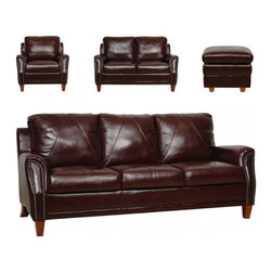 Luke Leather - Austin 3 Piece Set - Austin-SLC - Set Includes Sofa, Loveseat, Chair