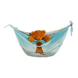 "Puppy Pal Boy - Toy Bag - ""One Grace Place"" Toy Bags are amazing and they are REVERSIBLE so you can change the look and feel of your room with this basic necessity item!  ""Puppy Pal"" toy bag is design on one side using our soft blue minky fabric and accented with our ""Puppy"" as an appliqu�.  Opposite side is designed in our signature ""Doggy Dip"" cotton print fabric.  Ties are blue minky.  Don't forget to add this to your order!"