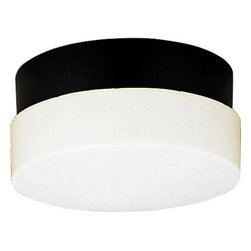 """Progress Lighting - Progress Lighting P5711-31 Hard-Nox 12"""" 2 Light Impact-Resistant Aluminum Black - Named for its impact-resistant durability in high traffic areas, the wet location-listed Hard-Nox collection works well in both indoor and outdoor applications. White, Black or Satin Aluminum finishes, along with polycarbonate or acrylic diffusers, complement a variety of shapes. Tough enough to stand up to the wear and tear of rough usage in high traffic areas both indoors and outdoors, Hard-Nox is ideal for garages, workrooms and as outdoor security lighting.Features:"""