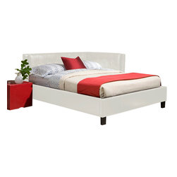 Standard Furniture - Standard Furniture Rochester Cornerbeds Upholstered DayBed in White - Twin - Rochester Corner Daybeds have a clean tailored look with their squared off silhouette and low profile head and footboards.