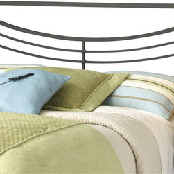 Hillsdale Furniture - Hillsdale Kingston Panel Headboard - Full/Queen - Hillsdale Furniture's contemporary Kingston bed features a perfectly angular silhouette softened by a concave arced design. Finished in brown, this bed is constructed from a sturdy heavy gauge tubular steel. Some assembly required.