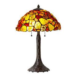 Cal Lighting - Cal Lighting BO-2403TB 2 Light Pedestal Base Table Lamp - Features: