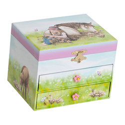 Mele Jewelry - Mele and Co. Brandy Girl's Musical Horse Jewelry Box - Mele Jewelry - Jewelry Boxes - 00714F13P