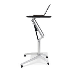 Jesper Office Furniture - 201 Series Height Adjustable WorkPad Table in Espresso - Features: