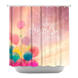 DiaNoche Designs - Shower Curtain Artistic - Make Your Dreams Come True - DiaNoche Designs works with artists from around the world to bring unique, artistic products to decorate all aspects of your home.  Our designer Shower Curtains will be the talk of every guest to visit your bathroom!  Our Shower Curtains have Sewn reinforced holes for curtain rings, Shower Curtain Rings Not Included.  Dye Sublimation printing adheres the ink to the material for long life and durability. Machine Wash upon arrival for maximum softness. Made in USA.  Shower Curtain Rings Not Included.