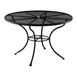 """Standard Mesh 60"""" Round Dining Table with 2"""" Umbrella Hole - Dimensions -"""