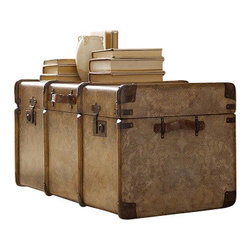 Silver Nest - Banded Print Trunk - Banded print trunk with buckles.