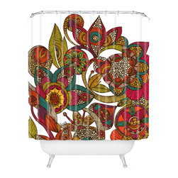DENY Designs - Valentina Ramos Garden Ava Shower Curtain - Who says bathrooms can't be fun? To get the most bang for your buck, start with an artistic, inventive shower curtain. We've got endless options that will really make your bathroom pop. Heck, your guests may start spending a little extra time in there because of it!