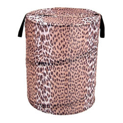 Cheetah Pop-Up Hamper - This is so cute for the messy laundry room.