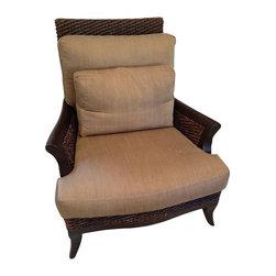 Designer Rattan & Silk Arm Chairs - A Pair - $5,000 Est. Retail - $2,000 on Chai -