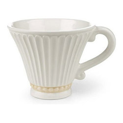 Lenox Corporation - Lenox Butlers Pantry Cup - Set of 4 - LNOX785 - Shop for Drinkware from Hayneedle.com! You'll love sharing a cup of tea with family and friends with the classic beauty and simple elegance of the Lenox Butlers Pantry Cup - Set of 4. Featuring an artistic fluted motif accented by the beaded bottom these cups have a gracefully curved handle that adds to their sophistication. Crafted from durable stoneware these cups are microwave- and dishwasher-safe and come in a set of four.About Lenox CorporationLenox Corporation is an industry leader in premium tabletops giftware and collectibles. The company markets its products under the Lenox Dansk and Gorham brands propelled by a shared commitment to quality and design that makes the brands among the best known and respected in the industry. Collectively the three brands share 340 years of tabletop and giftware expertise.