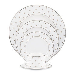 Kate Spade Polka Dot 5pc Place Setting