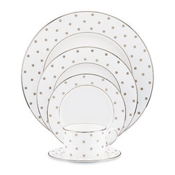 Kate Spade Polka Dot 5pc Place Setting - Can I redo my wedding registry to get these elegantly playful Kate Spade place settings?