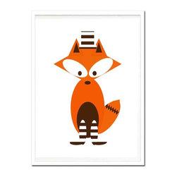 Kshoo Design - Mr Fox Art Print, Frame Not Included, 8x10 - -Art print digitally created