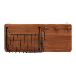 Fantastic Wood Metal Wall Storage Rack - Description: