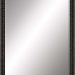 Paragon Decor - Beveled Mirror, Antiqued Dark, 36x48 - Mirror, Mirror, on the wall, who's the most beautiful mirror of them all? Reflect your impeccable taste with this traditional-style mirror, which features a gorgeous simple antiqued dark frame and high-quality interior beveled mirror. This piece measures 41 inches wide, 2 inches deep, and 53 inches high.