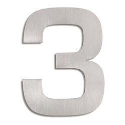 Signo Stainless Steel House Number - 3