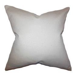 """The Pillow Collection - Mabel Solid Pillow Khaki 20"""" x 20"""" - This accent pillow creates a simple and clean vibe to your home. This toss pillow comes with a khaki hue which makes it easy to pair with solids and other patterns. Made of 100% high-quality cotton material. This 20"""" pillow is a perfect transitional piece for your sofa, bed or couch."""