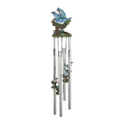 GSC - Wind Chime Round Top Blue Jay Musical Hanging Garden Porch Decoration - This gorgeous Wind Chime Round Top Blue Jay Musical Hanging Garden Porch Decoration has the finest details and highest quality you will find anywhere! Wind Chime Round Top Blue Jay Musical Hanging Garden Porch Decoration is truly remarkable.