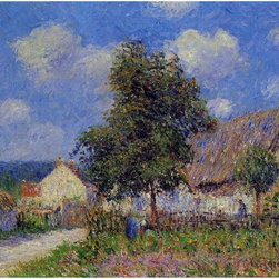 "Gustave Loiseau Small Farm at Vaudreuil - 16"" x 20"" Premium Archival Print - 16"" x 20"" Gustave Loiseau Small Farm at Vaudreuil premium archival print reproduced to meet museum quality standards. Our museum quality archival prints are produced using high-precision print technology for a more accurate reproduction printed on high quality, heavyweight matte presentation paper with fade-resistant, archival inks. Our progressive business model allows us to offer works of art to you at the best wholesale pricing, significantly less than art gallery prices, affordable to all. This line of artwork is produced with extra white border space (if you choose to have it framed, for your framer to work with to frame properly or utilize a larger mat and/or frame).  We present a comprehensive collection of exceptional art reproductions byGustave Loiseau."