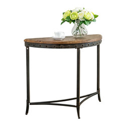 trenton console table in distressed pine - !nspire