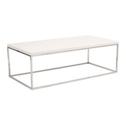 Eurostyle - Eurostyle Teresa Rectangular Coffee Table in White Lacquer & Chrome - Rectangular Coffee Table in White Lacquer & Chrome belongs to Teresa Collection by Eurostyle There's plain and there's perfect. This collection of 4 Teresa table designs are not only perfectly designed for strength and timeless style, they work beautifully together. Go for the group! Coffee Table (1)