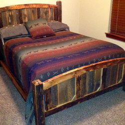 Rustic Furniture Portfolio - Rustic arched full size bed