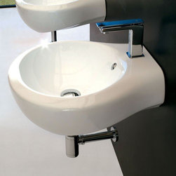 ArtCeram - ArtCeram | Blend Handrinse Washbasin - Made in Italy by Art Ceram.A part of the Blend Collection. The small yet striking Blend Handrinse Washbasin will add function and poise to bathrooms low on space. This compact bathroom sink is made from a durable and stain resistant ceramic construction which promises to hold its charming appeal for years to come. Product Features: