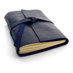 Handmade Leather Journal by Peaseblossom Studio - I'm loving the indigo color of this handmade leather journal. Perfect for jotting down daily reminders. I would buy several as a hostess gift. They would look perfect in a bookshelf too.