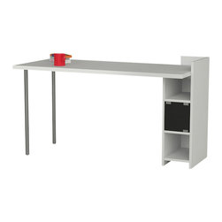 Decortie - SEKASEKA WORKING DESK / OFFICE TABLE, Black - The SekaSeka is a brilliant furniture piece with a desktop work surface and color blocked shelving for art supplies, work files, and your favorite books. Ditch the clutter and streamline with this wonderfully organizational piece.