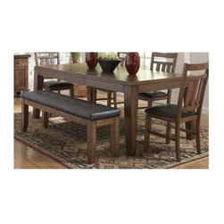 Homelegance - Kirtland Dining Table - For your casual dining space, the Kirtland Collection provides ample seating for your family and friends.