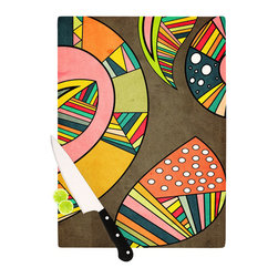 """Kess InHouse - Danny Ivan """"Cosmic Aztec"""" Cutting Board (11"""" x 7.5"""") - These sturdy tempered glass cutting boards will make everything you chop look like a Dutch painting. Perfect the art of cooking with your KESS InHouse unique art cutting board. Go for patterns or painted, either way this non-skid, dishwasher safe cutting board is perfect for preparing any artistic dinner or serving. Cut, chop, serve or frame, all of these unique cutting boards are gorgeous."""