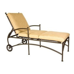 OW Lee - OW Lee Vista Chaise Lounge - The Vista Collection envelopes your body with cushioned comfort. Soft pillow backs fully formed and upholstered arms and soft deep seat cushions are combined with an elegantly sculpted hexagonal aluminum tube frame that exudes style and elegance.Since 1947 O. W. Lee has been making hand wrought iron casual patio furniture In the United States. O. W. Lee's designs evoke classical European and traditional South West American aesthetics. Created with traditional blacksmithing techniques but ideally suited for our modern lifestyles. Based in California O.W. Lee updates traditional with modern equipment and materials to produce beautiful durable furniture. From the reticulated foam in the cushions to their galvanized metal frames; O.W. Lee consistently strives for and achieves style comfort and durability. Oversized cushions fire pits and inviting designs encourage casual lounging on your patio.