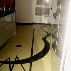 Modern  by concrete impression