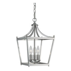 Capital Lighting Fixture Company - Stanton Brushed Nickel Three-Light Foyer Pendant - -Stanton Brushed Nickel Three-Light Foyer Pendant  -Features an open frame with no glass.  -Includes 5-Feet of chain and 10-Feet of wire Capital Lighting Fixture Company - 4036BN