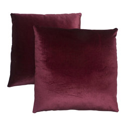 Abbyson Living - Abbyson Living Charisma 18-inch Burgundy Decorative Pillows (Set of 2) - With an eye-catching,contemporary pattern,this Charisma decorative pillow set is a lovely addition to any home's decor. These throw pillows feature a burgundy color design on the handwoven cover.