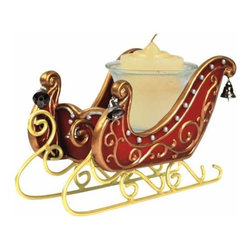 WL - 3.5 Inch Red Silver Bells Sleigh Collectible Xmas Votive Candle Holder - This gorgeous 3.5 Inch Red Silver Bells Sleigh Collectible Xmas Votive Candle Holder has the finest details and highest quality you will find anywhere! 3.5 Inch Red Silver Bells Sleigh Collectible Xmas Votive Candle Holder is truly remarkable.