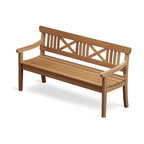 Skagerak Denmark - Drachmann Bench - Teak/165cm - The Drachmann range, designed by Bernt Santesson, is the quintessence of classic Scandinavian garden furniture design. This timeless furniture classic with the familiar cross back has been around fro more than 25 years and remains one of the most popular outdoor furniture ranges.