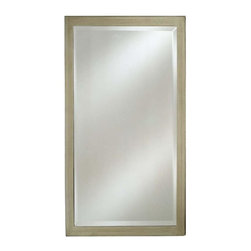 Afina - Estate Beveled Wall Mirror (Small) - Choose Size: Small. Rectangular shape. Basic contemporary style. Can be hung vertically or horizontally. 1 in. frame thickness. Clean with mild soap and water. Distinctive wood frame. Warranty: One year. Brushed silver finish. Molding width: 1.25 in.. Small: 16 in. W x 22 in. H. Medium: 16 in. W x 26 in. H. Large: 20 in. W x 26 in. H. Extra large: 24 in. W x 30 in. H