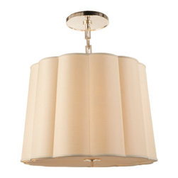 Large Simple Scallop Chandelier - This chandelier is a softer and unexpected way to be bold with lighting, and I think that it would do wonders to any transitional space in need of some extra pizzazz!