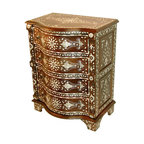 Mother of Pearl Inlay Chest - Curved Front -