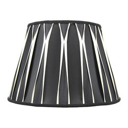 Home Concept - Black/Beige with Gold Liner Premium Lampshade 10.5 x 16 x 11 - Celebrate Your Home - Home Concept invites you to welcome your guests with our array of lampshade styles that will instantly upgrade your space