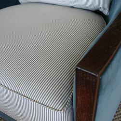 Connecticut beach house - Custom upholstery swivel chair