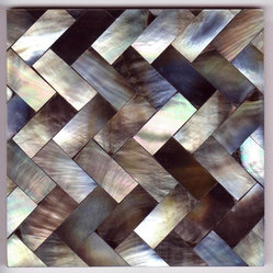 Grey Herringbone 10cm Tile