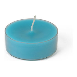"Jeco - Mega Oversized Turquoise Tealights-12pc/Box - When quality and value is essential for weddings, our 10 hr unscented tealight candles will suit all your needs for that very special day. The 10 hr mega tealight is larger in diameter than the standard tealight. Paired together with some of our glass mega tealight candle holders will create a beautiful candlelight glow for the wedding reception. PLEASE NOTE: Actual color may differ from the color shown in the image(s) due to monitor displays.; Features: Color: Turquoise; 100% Handpoured; Extra Long Burn Oversize Mega Tealights; Prices are per box of 12 candles; Size: 2.25"" Diameter x 1"" H; Burn Time: 10 Hours; Plastic Cups"