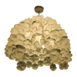 EcoFirstArt - Ella - Thirsty for lighting that offers chic design and ecofriendly materials? Drink in this fantastic hanging fixture. It's made from the ends of different plastic bottles sandblasted white and hand-formed into a cascading shade. Bottoms up!