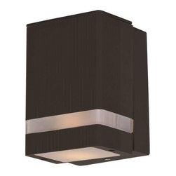 Maxim Lighting - Maxim Lighting 86128ABZ Lightray LED Modern Outdoor Wall Light - Maxim Lighting 86128ABZ Lightray LED Modern Outdoor Wall Light In Architectural Bronze