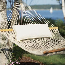 Cotton Hammock: Hammocks - Vacation in your own backyard with this comfy hammock.  A customer favorite at LLBean since 1973, this hammock is made of 100% cotton rope for a natural look and feel.